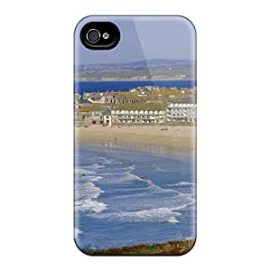 Top Quality Protection Lovely City Beach In Cornwall Engl Case Cover For Iphone 4/4s