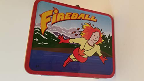 2011 Collector's Item: reegan breu as Fireball (Canada librarian superhero with Leaf Necklace) Gale Cengage Learning: Lunch box from Gale Cengage Learning