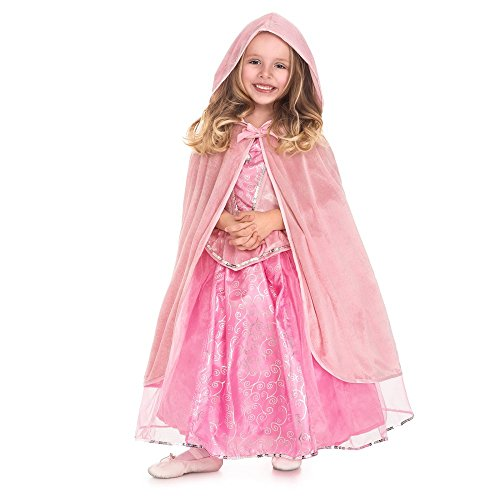 Little Doll Bow Dress - Little Adventures Traditional Pink Cloak Girls Costume - S/M (1-5 Yrs)