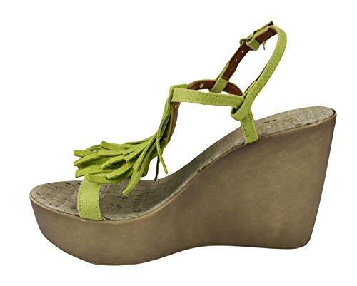 Replay , Sandales pour femme vert vert
