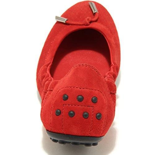 Shoes Tod's Donna Women Scarpe Flower Optical Rouge 89697 Ballerine dee ffx60qOP