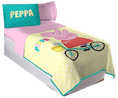(Franco MFG Peppa Pig Twin/Full Quilt and Sham Set - Fits Twin and Full Size Beds)