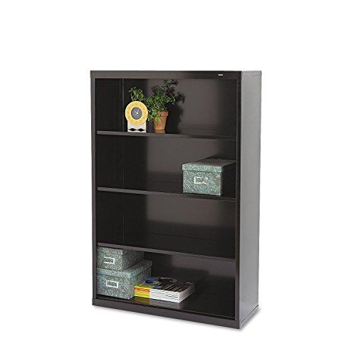 (Tennsco Welded Bookcase - 34.5quot; x 13.5quot; x 52quot; - Steel - 4 x Shelf(ves) - Black)