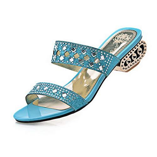 ASL05678 BalaMasa Bout Ouvert Bleu Femme wqYd7Hq