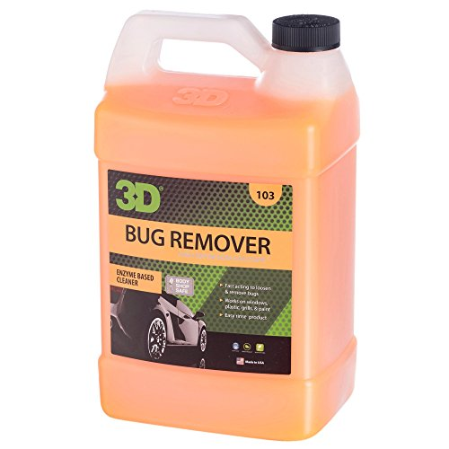 3D Bug Remover Concentrate - 1 Gallon | Enzyme Based Cleaner | Concentrated Degreaser | Removes Insects & Bugs | Made in USA | All Natural | No Harmful Chemicals
