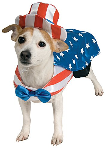 4th Of July Pet Costumes - Rubie's Uncle Sam Pet Costume,