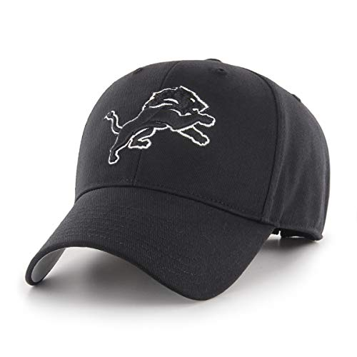 NFL Detroit Lions Men's OTS All-Star Adjustable Hat, Black And White, One Size