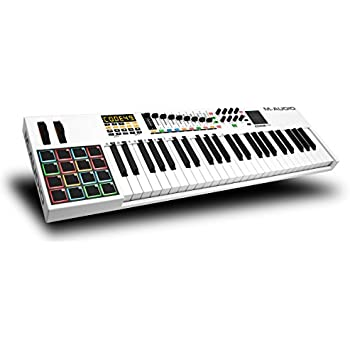 M-Audio Code 49 | 49-Key USB MIDI Keyboard Controller with X/Y Touch Pad (16 Drum Pads/9 Faders/8 Encoders), VIP Software Download Included