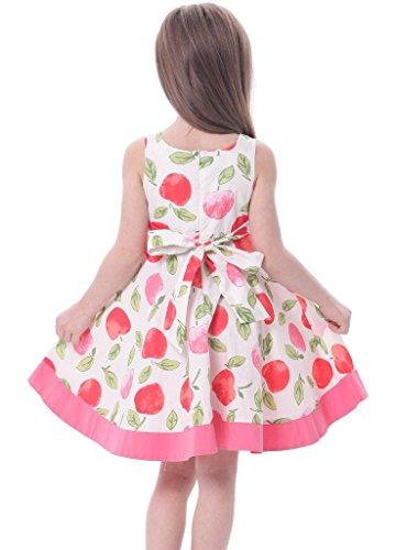 3cbe4c886b Bonny Billy Girls Sleeveless Cotton Print Casual Children Dress with Sash
