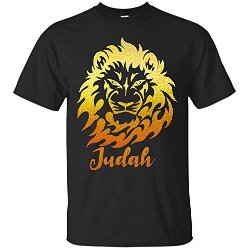 Hebrew Israelite Shirt Lion of Judah in Gold Tee Shirts Hoodie (Unisex T-Shirt;Black;6XL)