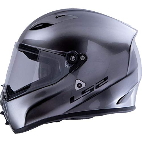 LS2 Helmets Unisex-Adult Modular Ohm Snell Helmet Brushed Alloy Large
