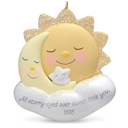Hallmark Keepsake Christmas Ornament 2018 Year Dated, Starry-Eyed Over You Sun, Moon and Star, New Parents ()