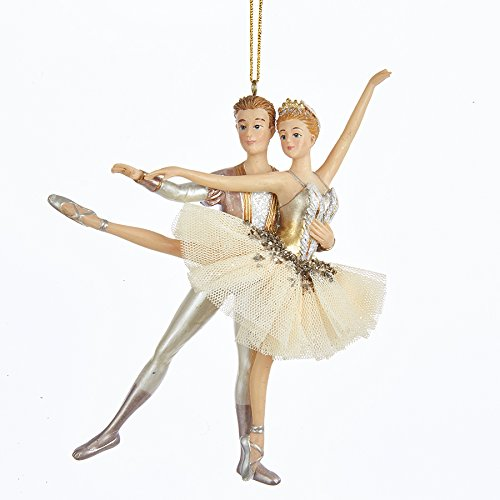 Kurt Adler Ballet Couple Christmas Ornament -