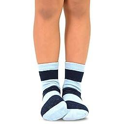 Naartjie Boys Short Cotton Crew Socks Rugby Stripe 6 Pair Pack (6-8Y)