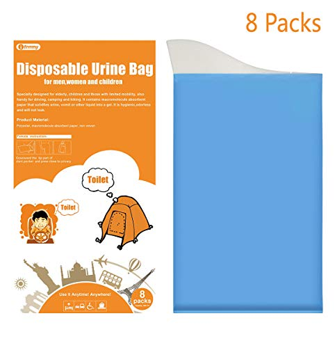 ifrmmy 8 Packs Travel Disposable Urinals Portable Urine Bag Kids Men Women Emergency Toilet Bee Bag Traveling Camping, 8 Pcs by ifrmmy (Image #1)