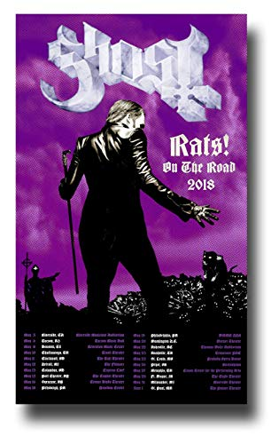 - Ghost B.C. Poster Concert Promo 11 x 17 inches Band BC Rats On The Road 2018