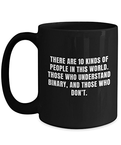 There are 10 kinds of people in this world programmer Jokes Black ceramic coffee mug 11/15 oz