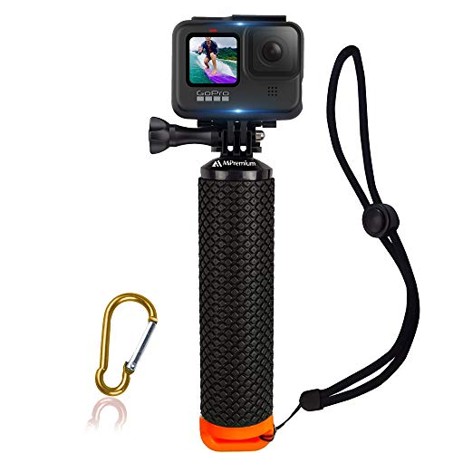 Waterproof Floating Hand Grip Compatible with GoPro Hero 9 8 7 6 5 4 3+ 2 1 Session Black Silver Handler & Handle Mount Accessories Kit for Water Sport and Action Cameras (Orange)