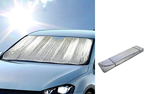 (DINY Home & Style Windshield Sunshade Sun Reflector for Car Foldable UV Ray Reflector Auto Front Window Sun Shade Visor Shield Cover, Keeps Vehicle Cool 58