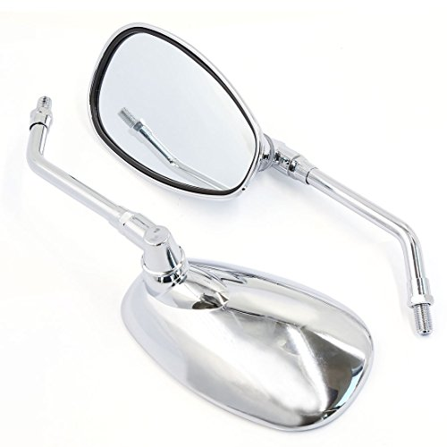 uxcell 10mm Motorcycle Rearview Mirrors For Cruiser Chopper Adventure Touring
