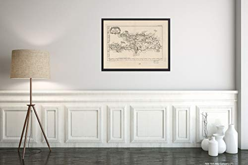 (1764 Map Title: Isle de Saint Domingue Subject: Early Hispaniola Map Size: 18 inches x 24 inches  Fi)