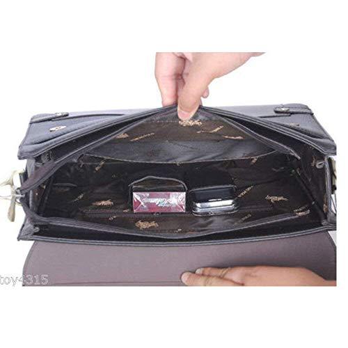 e370d1f387 Amazon.com  MESIDA Polo Men s Genuine Leather Briefcase Business Laptop Bag  Shoulder Messenger Bag Fashion Men s Handbag Briefcases Luxury Leather ...