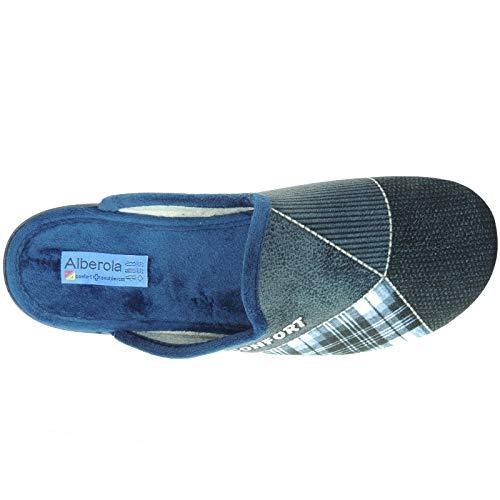 Alberola P Casa Invierno Destalonada Hombre Ac6785 Llana Azul Modelo Confort Para Zapatilla Chinela rA7rnwqfS