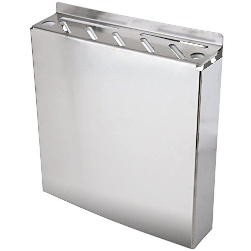 (7 Slot Stainless Steel Wall-Mount Knife Rack by TableTop king)