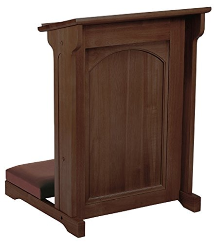 Eastern Maple Hardwood Padded Church Kneeler in Walnut Stain Finish, 24 Inch by Abbey Collection