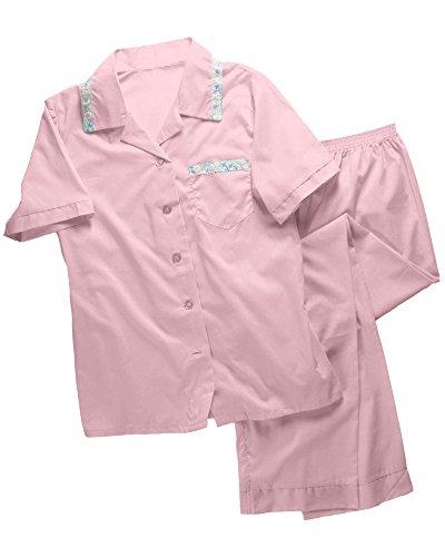 Tailored Womens Pajamas (National Tailored Pajamas, Pink, 1X - Long Sleeve)