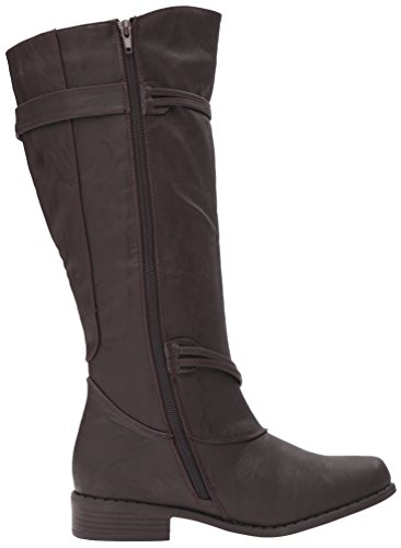 Brinley Co Bottes Déquitation Olive-xwc Marron Extra Large Veau