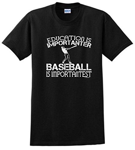 Derek Jeter Replica Baseball Jersey (Baseball is Important Funny T-Shirt Large Black)