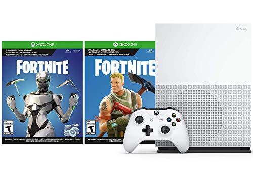 Microsoft Xbox One S Fortnite V-Bucks and Skin Bundle: 2,000 V-Bucks, Legendary Rare Eon Cosmetic Set and Xbox One S 1TB Console with 4K Ultra HD Blu-ray