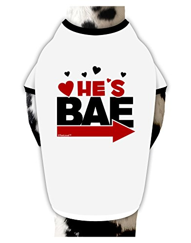TooLoud He's BAE - Right Arrow Cotton Dog Shirt White with Black XL