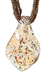 Large Leaf Amber Brown Precious Gemstone Necklace Pendant Fashion