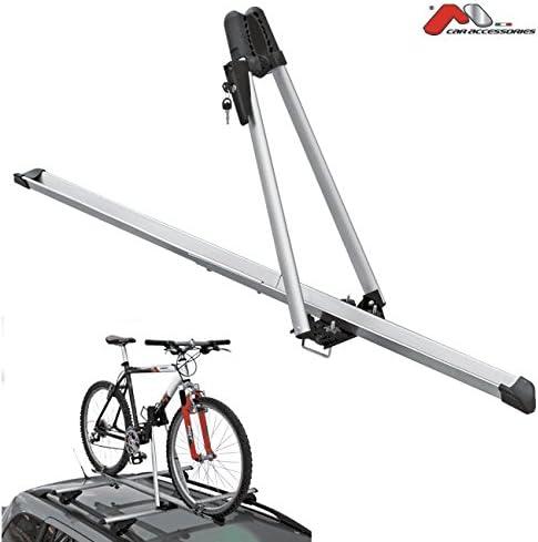 Porta bicicletas para techo de coche, acero (fijación para 1 ...