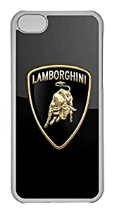 iPhone 5C Case, iPhone 5C Cases - Anti-Scratch Crystal Clear Back Bumper for iPhone 5C Lamborghini Car Logo 7 Shock-Absorption Hard Case for iPhone 5C