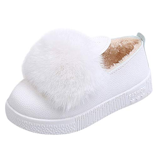 Little Kids Winter Autumn Shoes,Jchen(TM) Baby Kids Little Girls Cute Rabbit Ear Sneakers Winter Thicken Warm Shoes Boots for 1-6 Years Old (5.5 M US Toddler, White)]()