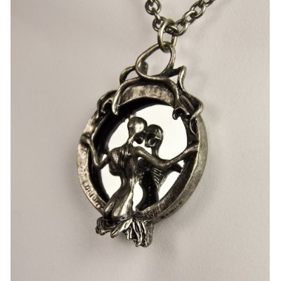 Lady Death in the Mirror Necklace