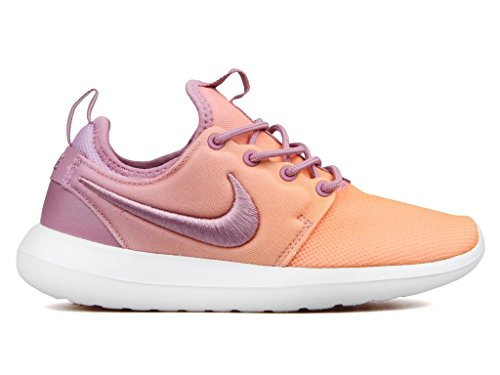 NIKE Women's Roshe Two BR OrchidGoldWhite 896445 500 (Size: 7)