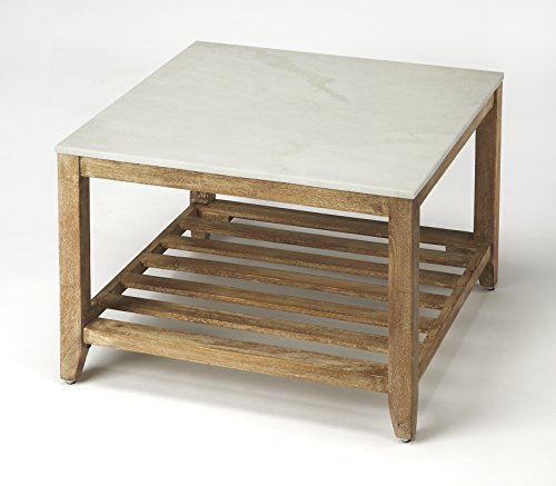 Butler Specialty Company BUTLER BRAYDEN MARBLE BUNCHING COFFEE TABLE (Square Bunching Cocktail Table)