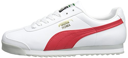 PUMA Men's Roma Basic Fashion Sneaker, White/High Risk Red/White - 9 D(M) US by PUMA (Image #5)