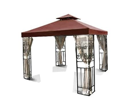 Flexzion 12x12 Gazebo Replacement Canopy Top Cover Brown