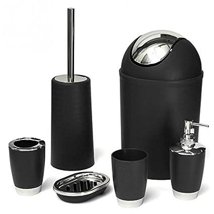 Gentil 6 Pcs/set Bathroom Necessities Toothbrush Holder Toilet Brush Soap Dish Bin  Cup Sprayer Bottles