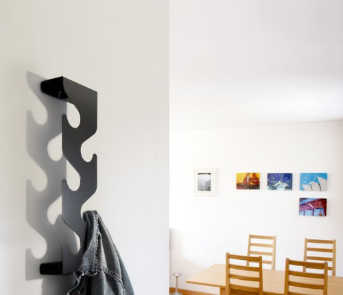 Wave Coat Rack Hooks Mounted