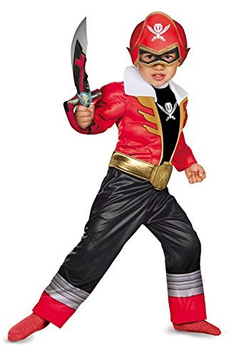 Disguise Saban Super MegaForce Power Rangers Red Ranger Toddler Muscle Costume, Large/4-6 Color: One Color Size: Large/4-6 Model: (Saban Super Megaforce Power Rangers Muscle Costume)