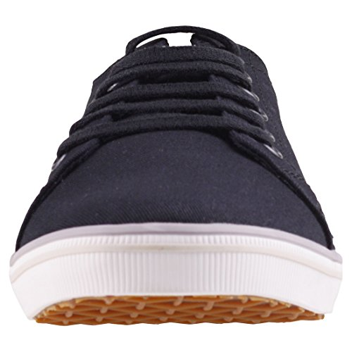 Fred Perry Mens Kingston Twill Fashion Sneaker Nero Grigio