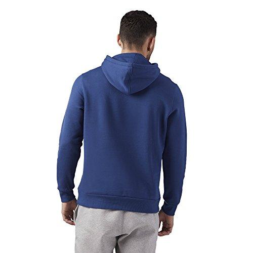 Big Hoodie Uomo Blu Logo Reebok El Felpa 5nHqXFx