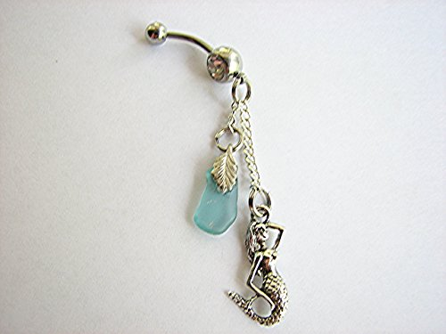 Mermaid and Sea Glass Belly Ring