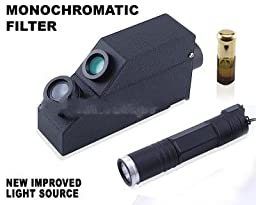 External Monochromatic Yellow Light Gem Refractometer, + 1.80 RI Oil, Gemological. GIA TOOLS
